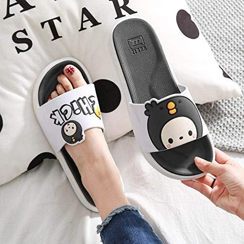 Las zapatillas de algodón unisex para otoño e invi Sandalias de torros de punta de flip-flops ergonómicos, zapatillas de pareja baño de baño Sandalias antideslizantes-37-38_black, Casa Mule Soft Foams