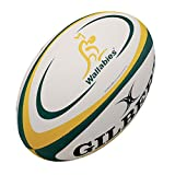 Wallabies Australie - Ballon de Rugby Réplique Officiel Blanc/Vert/Or - taille 5