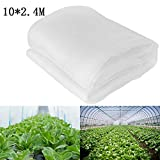 zyurong Filet de Protection Contre Les Insectes, Tunnel en Maille Fine - Moustiquaire 10M x 2.4M Blanc