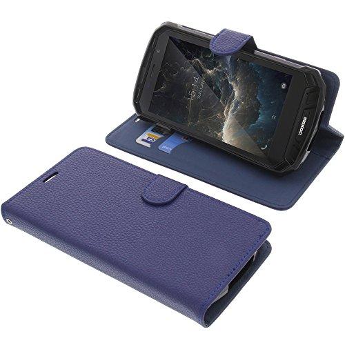 foto-kontor Tasche für Doogee S60 / S60 Lite Book Style blau Schutz Hülle Buch