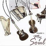 Juego de 6 marcadores musicales para piano + guitarra, hierbas de acordeón + trompeta + violín metal diseño práctico y duradero