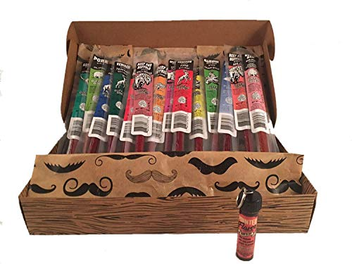 Unique Gifts For Men - Buffalo Bob's - 15 Piece Wild Game Meat Sticks Exotic Jerky Sampler Gift Set - Plus Bonus Pointed Flavor Cinnamon Toothpicks - Great Valentines Day Gift For Him!