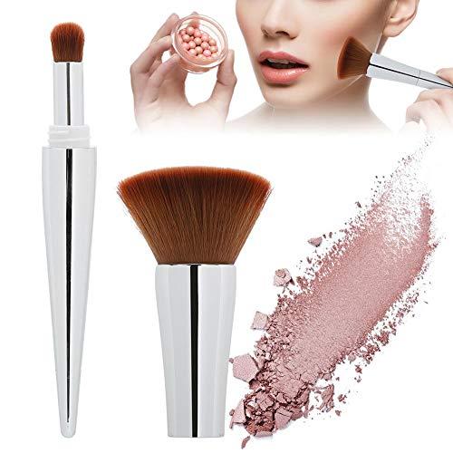Blush Poudre Cosmétique Brosse Multifonctionnelle Portable Maquillage Brosse Femmes(Silver)