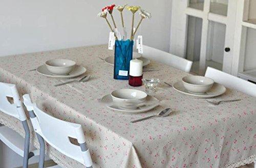 Lozse Katoen en linnen tafelkleed behang 60 * 60cm 140 * 160cm 3#