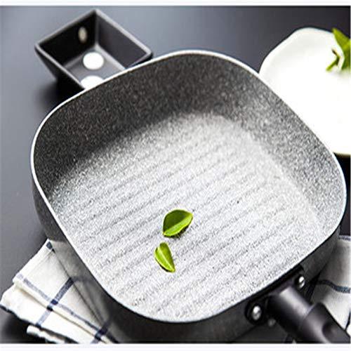 XuZeLii Sartenes Antiadherentes Pan para freír Cuadrado Pan para Hornear SART SART SART Pan Pan no Stick Adecuado para Cocinar En La Cocina (Color : White, Size : 39x24x4.5cm)