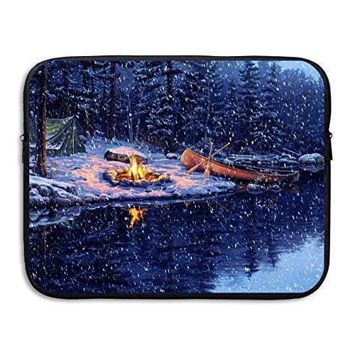 15 Inch Laptop Sleeve Water-Resistant Laptop Bags Snow Day Camp Briefcase Sleeve Case Bags