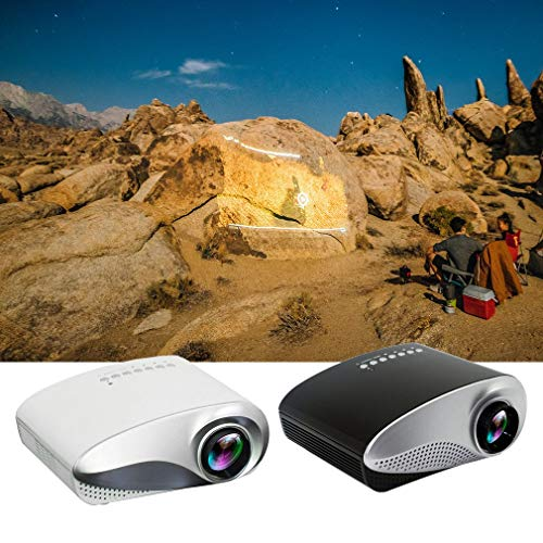 Huis projector, mini mini home LED draagbare projector met TV-interface ondersteunt HD 1080p projector