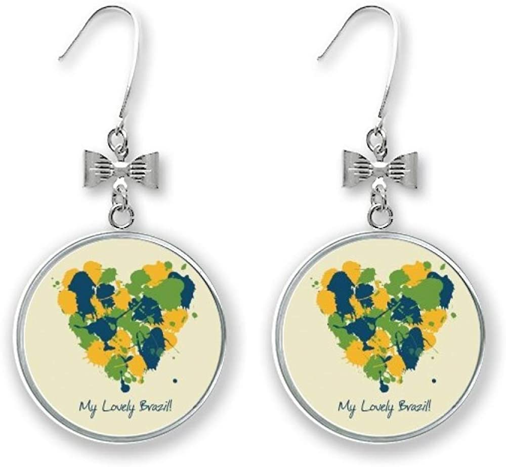 Beauty products Heart-shaped My Sales for sale Lovely Brazil Bow Stud Earrings Drop Pier
