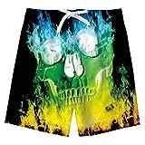 BFUSTYLE Hawaiian Swim Trunks Boys Kids Swimming Shorts Flame...