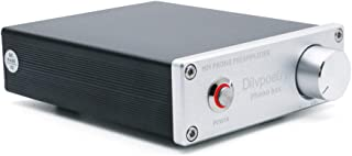 Dilvpoetry Phono Box Mini Phono Preamp for Turntable Phonograph Preamplifier with DC12V RCA Input for Vinyl Record Player(...