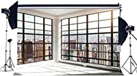 HD 7X5FTオフィスルームの背景インテリアフレンチウィンドウ壁紙背景アメリカビジネスストリートニューヨークシティ超高層ビルビニール写真の背景ポートライスフォトスタジオ小道具KX233