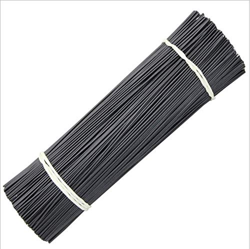 1000pcs Bread Bag Ties, 4.7' Length Black Twist Tie, Black Plastic Coated twist ties, No Rip, Plants Ties, Ideal Party Favor Treat Bags Twist Tie, Cable twist tie,Plastic Covered Twist Ties