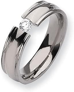 titanium diamond tension ring