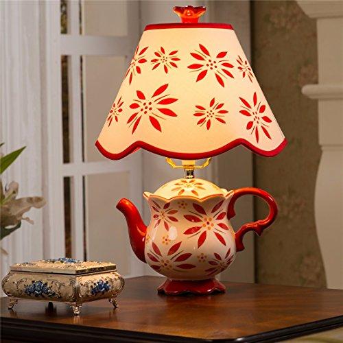YU-K Stijlvolle lampen minimalistische lampen antieke tafellampen bedlampjes tafellampen slaapkamer schommel in licht, warm licht rood