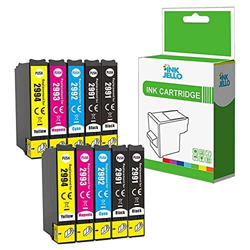 InkJello Compatible Tinta Cartucho Reemplazo para Epson XP-235 XP-245 XP-247 XP-255 XP-257 XP-332 XP-335 XP-342 XP-345 XP-352 XP-355 XP-432 XP-435 XP-442 XP-445 XP-452 XP-455 (BK/C/M/Y, 10-Pack)