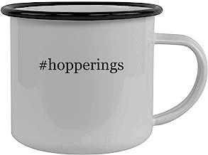#hopperings - Stainless Steel Hashtag 12oz Camping Mug, Black