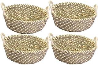 Vacchetti 23182500CR Lot de 4 paniers en Fibre Crème Naturelle Taille Moyenne
