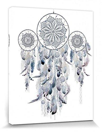 1art1 Traumfänger - Silver, Summer Thornton Bilder Leinwand-Bild Auf Keilrahmen   XXL-Wandbild Poster Kunstdruck Als Leinwandbild 50 x 40 cm