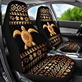 Renewold Tribal Sea Turtle Polynesian Hawaiian Style Universal Fit Car Seat Covers 2 Pcs Set Front Seat Seat Covers