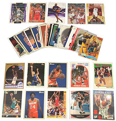 40 Basketball Hall-of-Fame & Superstar Cards Collection Look For Players such as Michael Jordan, Magic Johnson, LeBron James. Perfect for Gift Giving