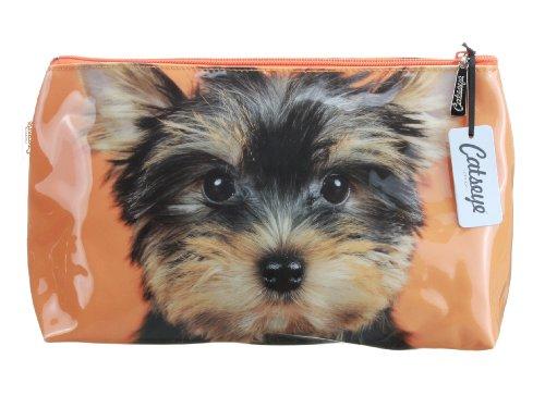 Kosmetiktasche Yorkie on Orange von Catseye London Jellycat Small Bag