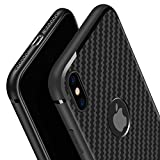 Swenky iPhone Xs Case/X Case, [Carbon Fiber][Frosted and