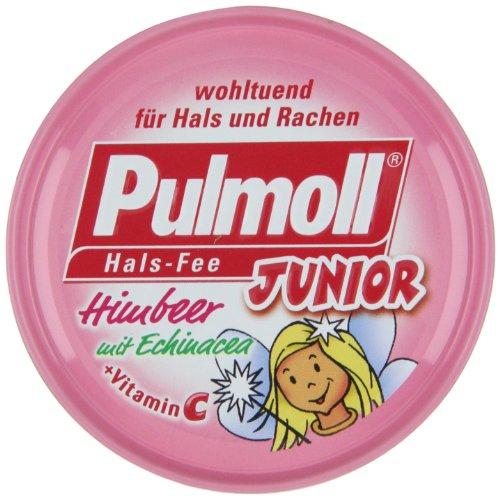 Pulmoll Junior Halsfee Himbeere zuckerfrei, 10er Pack (10 x 50 g)