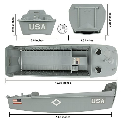 BMC WW2 Higgins Boat LCVP Landing Craft - 1:32 Vehicle for Plastic Army Men