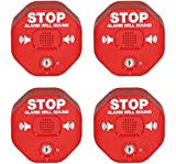 Safety Technology International, Inc. STI-6400 Exit Stopper Multifunction Door Alarm, Helps Prevent Unauthorized Exits or Entries Through Emergency Doors (Four Pack)