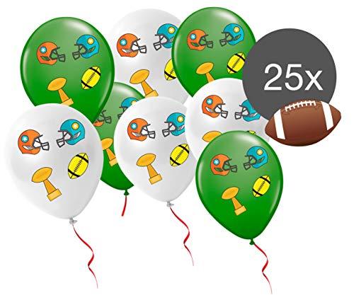 TK Gruppe Timo Klingler 25x Luftballons Ballons Super Bowl Deko Dekoration 2020 Party Set American Football (25x Lutballons)