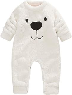 e89248a40a550 Robemon vêtement bébé épais Sweater Bande dessinée Ours Enfant Barboteuse  Chaud Peluche Pyjama Combinaison 6-