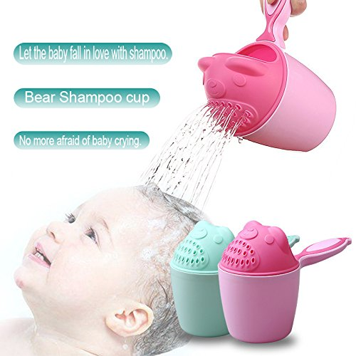 Vaso de champú para bebé, cuchara de bebé, ducha, agua de baño, bailer,...