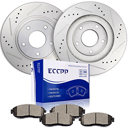 Brake Rotors Brakes Pads Kits,ECCPP 2pcs Front Discs Brake Rotors and 4pcs Ceramic Disc Brake Pads Set for 2003 2004 2005 Infiniti G35,2003 2004 2005 Nissan 350Z