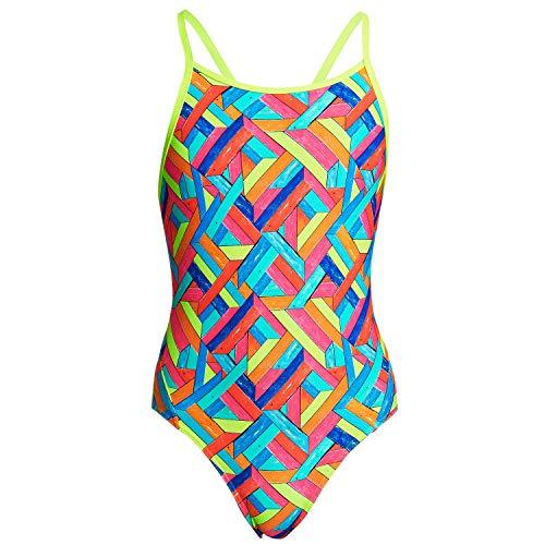 Funkita Damen Badeanzug Schwimmanzug Cut Away Hawaiian Skies