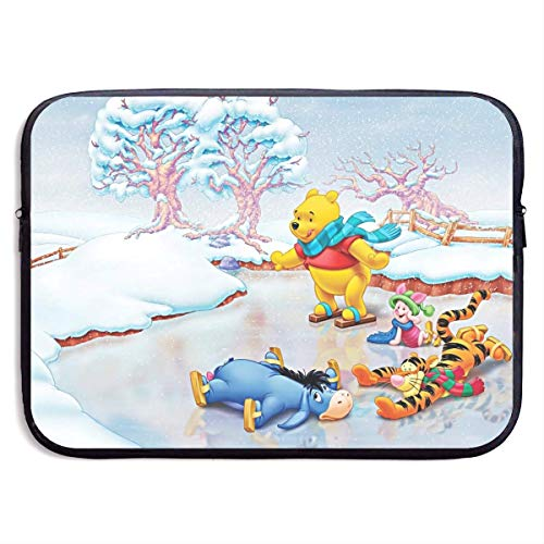 Anime Winnie The Pooh Laptop Sleeve Bag Case,Waterproof and Foldable Laptop Briefcase Neoprene Soft Carring Tablet Travel Case,13 inch