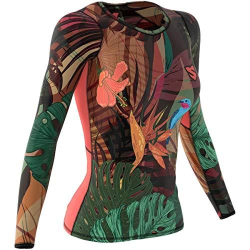 SMMASH Jungle Fever Damen Langarm Top, Atmungsaktiv und Leicht Compression Shirt, Longsleeve Damen, Gym Top, Funktionsshirt für Crossfit, Fitness, Yoga, Sport Langarmshirt, Hergestellt in der EU (XL)