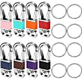 8 Pieces Metal Key Chain Clip Hook Keychain Holder Key Ring Organizer with 8 Pieces Key Rings for Car Key Finder