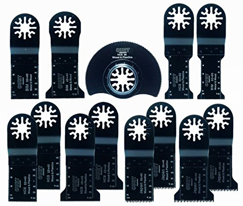 『CURT PRODUCT】13点 マルチツール 替刃 セット マキタ 日立 ボッシュ カットソー 先端工具 互換品』の1枚目の画像