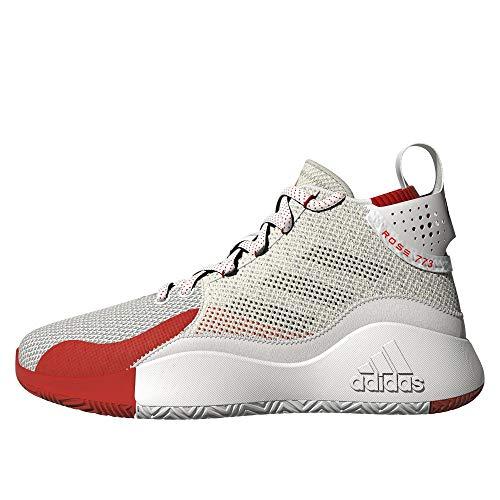 adidas D Rose 773 2020, Zapatillas de Baloncesto Unisex Adulto, FTWBLA/Plamet/Rojint, 45 1/3 EU