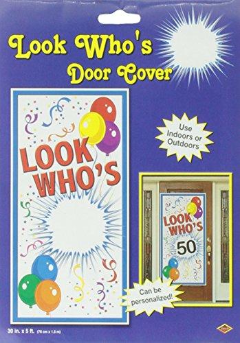 Beistle 57321 Look Who's Door Cover, 30-Inch by 5-F