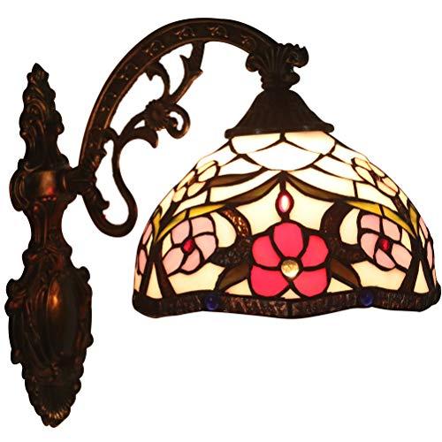 Odziezet Lampade da Parete Tiffany Lamp Vintage Mini Luce a Muro Illuminazione per Interni e Esterni