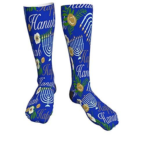 Hanukkah Candle Chanukah Women Funny Socks Knee High Stockings Cotton Socks