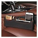 Organisateur en cuir synthétique pour voiture avec emplacement pour téléphone portable, pièces de monnaie, clés, cartes d'identité