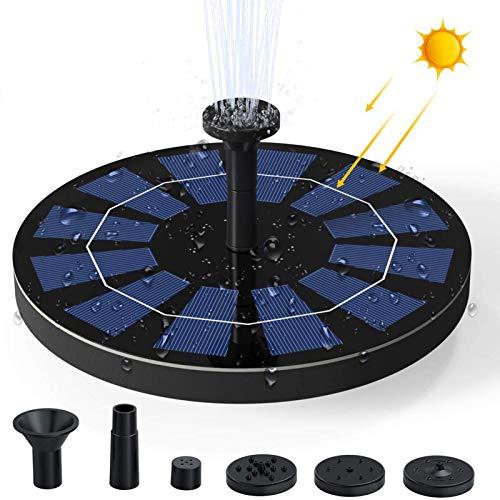 Ankway Bomba de Agua Solar para Fuente 2.5W Respaldo de batería incorporada...