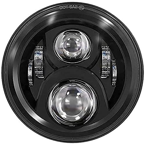 "Eagle Lights 7"" LED Headlight For Harley Davidson and Indian Motorcycles - Black / Generation II"