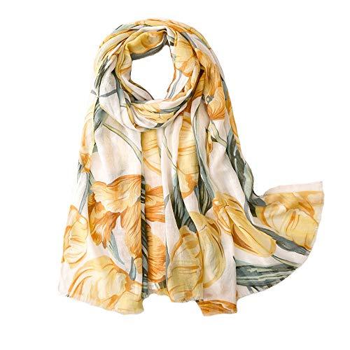 Micoop vrouwen chique bloemen bladeren patroon sjaal lange en grote Bloom Print wraps en sjaals