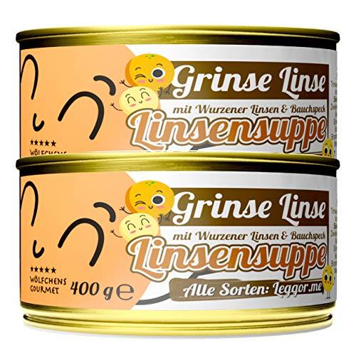 Schlump-Chili⎥Wölfchens Gourmet Grinse Linse Linsensuppe in der Dose (2 x 400 g)