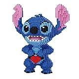 5217 Unids + Micro Diamond Blocks Bloques De Anime Figuras De Anime Pedido por Corazón Figura Grande Stitch Modelo Juguetes Educativos para Niños Regalos