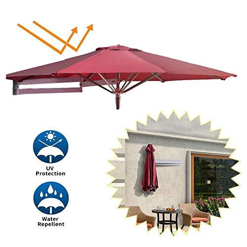 ZXL 7Ft Garten Sonnenschirm-Regenschirm, Patio Cantilever-Regenschirm für Wandteleskop Garten Sonnenschirm Sonnenschutz im Freien Platz sparend Einfache Neigungsverstellung