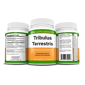 2 Bottles Tribulus Terrestris 1000mg Per Serving 180 Total Capsules KRK Supplements